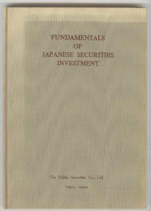Image for Fundamentals of Japanese Securities Investment