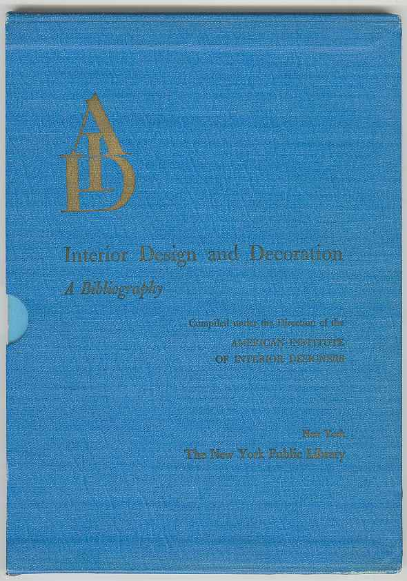 Image for Interior Design and Decoration: A Bibliography
