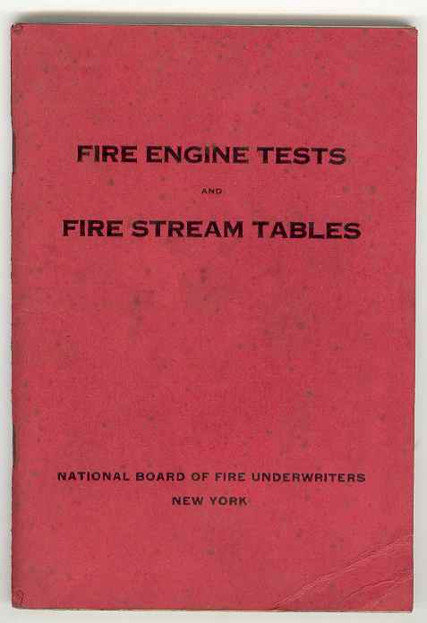 Image for FIRE ENGINE TESTS and FIRE STREAM TABLES