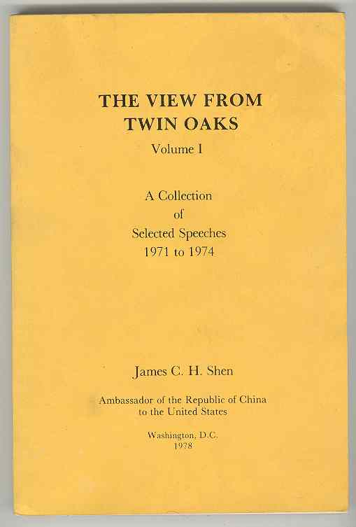 Image for THE VIEW FROM TWIN OAKS: Volume I, A Collection of Selected Speeches 1971 to 1974 and Volume 2, A Collection of Selected Speeches 1975 to 1978