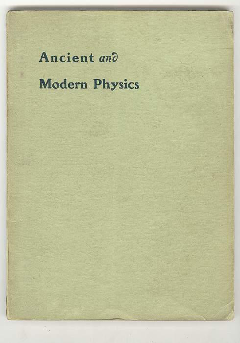 Image for Ancient and Modern Physics