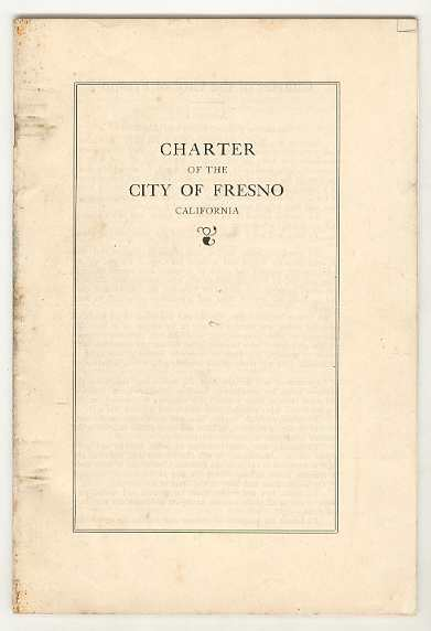 Image for CHARTER of the CITY OF FRESNO California
