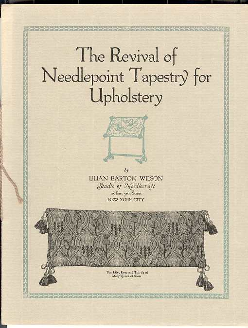 Image for The Revival of Needlepoint Tapestry for Upholstery