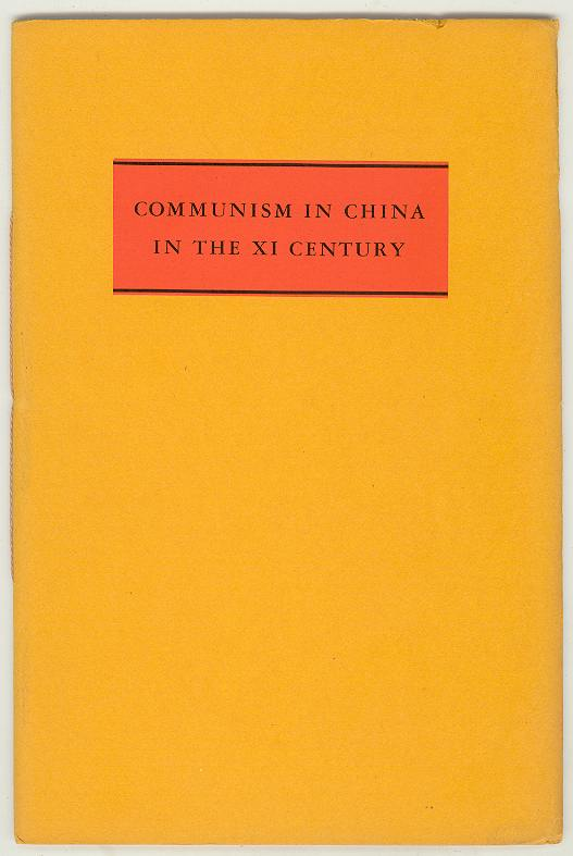 Image for COMMUNISM IN CHINA IN THE XI CENTURY